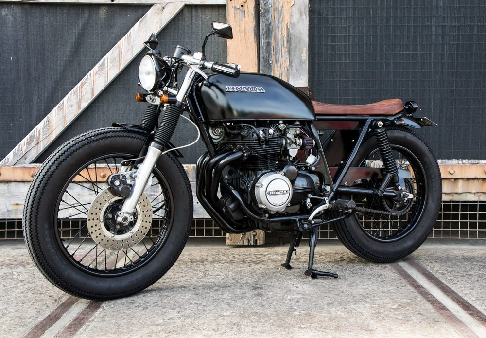 1975 Honda CB400F brat by Salty Speed Co