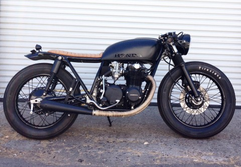 Black and Tan CB550 Build by Brady Young