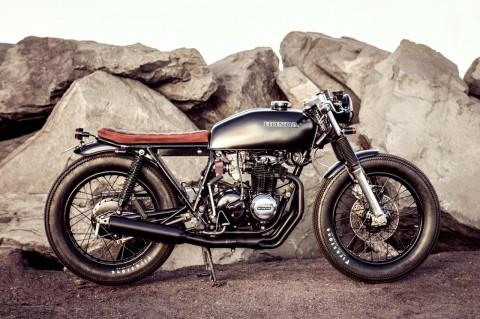1975 Honda CB400F brat by Salty Speed Co