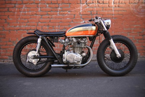 1974 CB450 Rusty by Holiday Customs