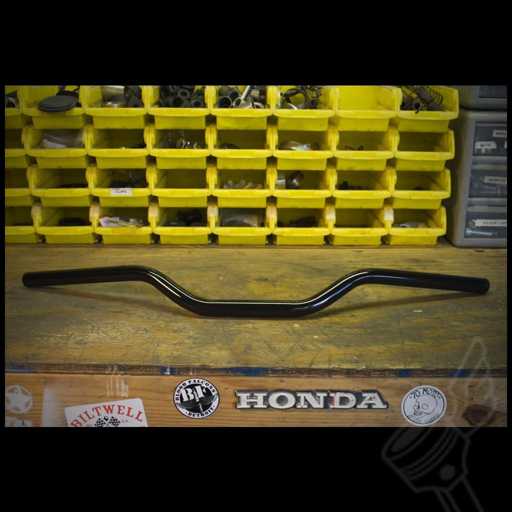 Vintage Cafe Racer Caferacer Bobber Brat Chopper Custom Motorcycle Gloss Black Moto Gp Handle Bars Bars